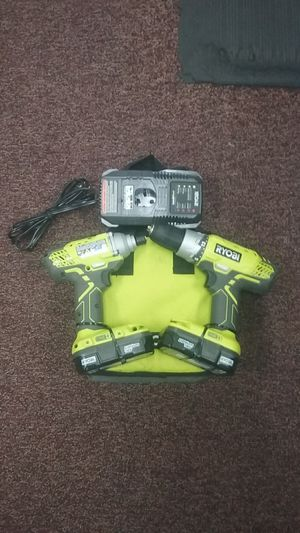 Ryobi Cordless 18v Drill and Impact with 2 batteries & CHARGER #96091408523 for Sale in Carmichael, CA