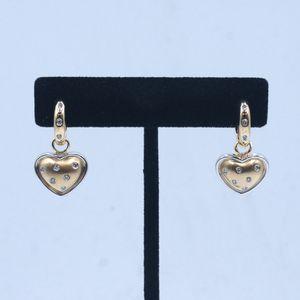 14k Dangle Heart Earrings for Sale in Los Angeles, CA