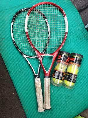 tennis rackets and balls $20 for Sale in Huntington Park, CA