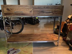 Wood and Steel Console Table for Sale in Torrance, CA