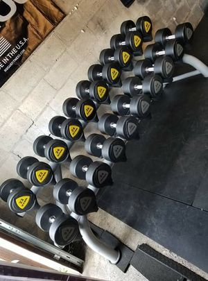 Ziva commercial dumbells with rack for Sale in Lakewood, WA