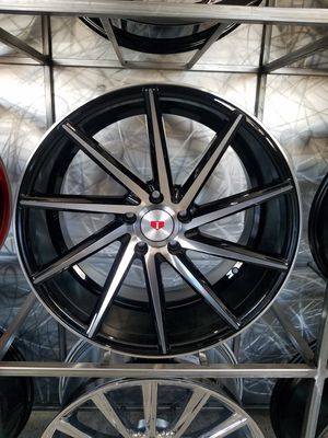 PRICE PER WHEEL 19×8.5 & 19X9.5 turbine style wheels black machine rims fits 5x114 for Sale in Tempe, AZ