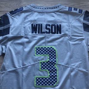 BRAND NEW! 🔥 Russell Wilson #3 Seattle Seahawks Grey Jersey + SHIPS OUT NOW! 📦💨 for Sale in Seattle, WA