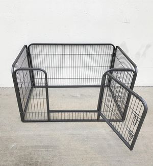 "(NEW) $75 Heavy Duty 49""x32""x28"" Pet Playpen Dog Crate Kennel Exercise Cage Fence, 4-Panels for Sale in South El Monte, CA"