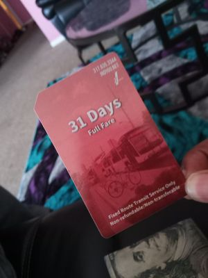 31 day Bus pass for Sale in Indianapolis, IN