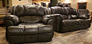 2pc Espresso leather Lazboy sofa set for Sale in Bow, WA