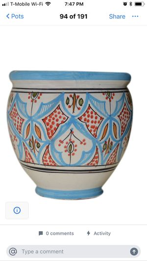 Moroccan flower pots planters for Sale in Gulfport, FL