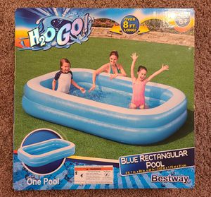 Bestway H2OGO Inflatable Blue Rectangular Pool for Sale in Tampa, FL