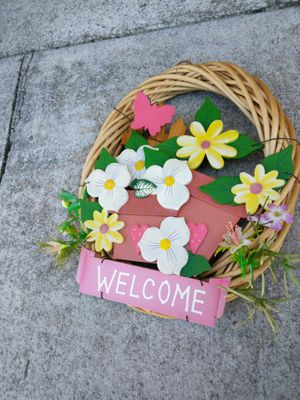 Welcome door flower basket for Sale in Stone Mountain, GA