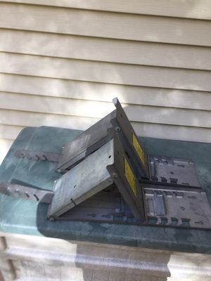 Roofing Tools: Dewalt Framing Nail Gun, Roof Jacks, Ladder Hooks and Shingle Strippers for Sale in Chardon, OH