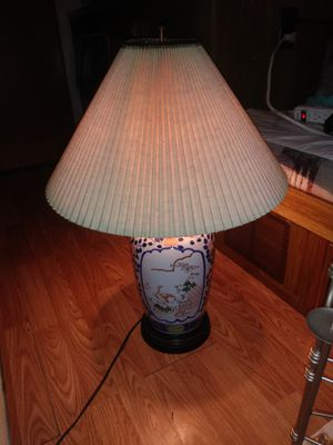 Antique Asian Fine China Large Lamp for Sale in Granite Shoals, TX