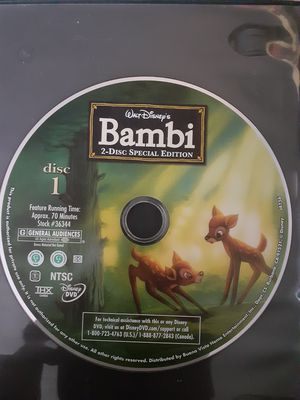 Bambi movie for Sale in Riverside, CA