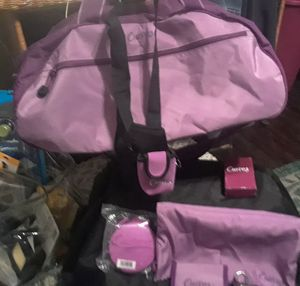 Curves gym bag with 10 gym accessories included for Sale in Tampa, FL