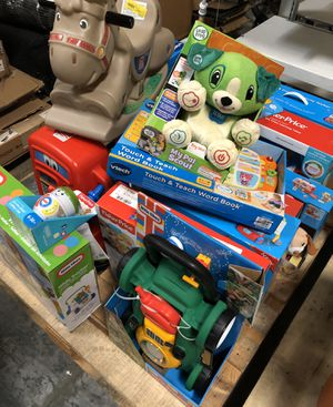 Overstock NEW Baby Kids Toys Pallet - Fisher Price / Little Tikes / Leap Frog / Vtech / Step2 for Sale in La Puente, CA