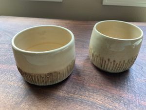 Unique handmade matching ceramic plant pots for Sale in Vancouver, WA