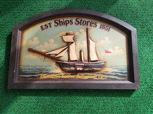 3D Living Room Home House Decor Ship Stores Sign 1851 Nautical lake beach house for Sale in Des Plaines, IL