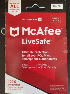 mcafee livesafe for Sale in El Cajon, CA