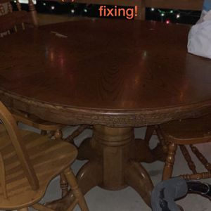 Wood Table Set Pending Pick Up! for Sale in Austin, TX