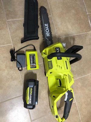 Ryobi 40v brushless chain Saw kit for Sale in Dallas, TX