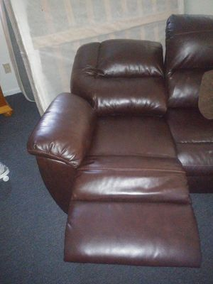 Loveseat leather recliners for Sale in Fresno, CA