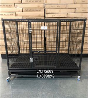 Dog pet cage kennel size 43 large folding with plastic floor grid new in box 📦 for Sale in Montclair, CA