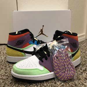 "Air Jordan 1 Mid ""MultiColor"" SE for Sale in Euless, TX"