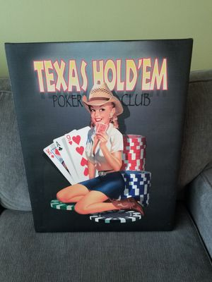 Texas Hold'em Poster Sexy Girl for Sale in Chevy Chase, MD