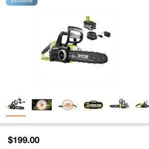 Ryobi Chainsaw 18v for Sale in Dallas, TX