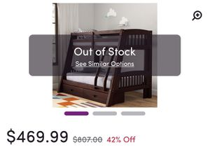 Twin over full bunk beds with storage brand new in box for Sale in Covina, CA