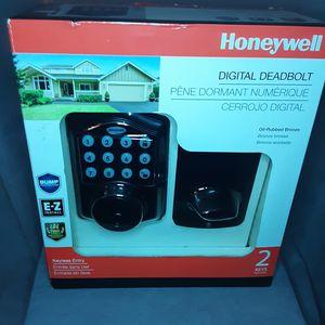 Honeywell Digital Deadbolt : Oil-Rubbed Bronze Keyless Entry / 2 Keys - 8712409 for Sale in Kent, WA