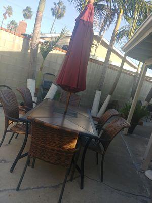 Wicker patio set/ outdoor furniture, in good condition for Sale in Garden Grove, CA