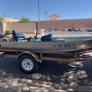 Aluminum Fishing Boat W/Big Tex Trailer for Sale in Phoenix, AZ