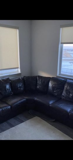 Large sectional leather couch for Sale in Denver,  CO