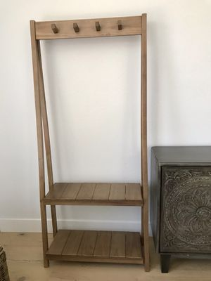 Wooden Coat Rack with 2 shelves for Sale in Peoria, AZ