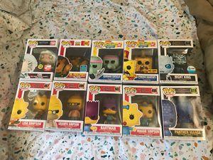 Funko pop lot ciri simpsons marge Maggie Lisa bartman squidward spongebob metallic night king toy story mr pricklepants sdcc 2019 for Sale in West Covina, CA