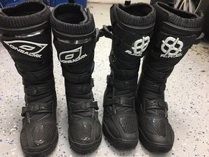 Dirt bike boots—sizes 7 and 9 for Sale in Geneva, IL