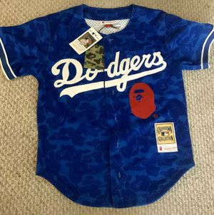 BBAPE X Mitchell & Ness LA Dodgers Jersey Sz:S for Sale in West Hollywood, CA