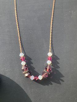 925 Silver/rose Gold Plated Hand Made Crystal Swarovski Necklace for Sale in Nashville,  TN