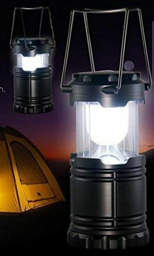 NEW Camping Collapsible Lantern, batteries included, 7.28 in. for use, 4.72 in. for packing, 3.35 in. wide, multiple quantities available for Sale in Glendale, AZ