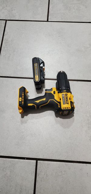 DEWALT 20 VT BRUSHLESS DRILL W BATTERIE NEW NUEVO for Sale in Long Beach, CA