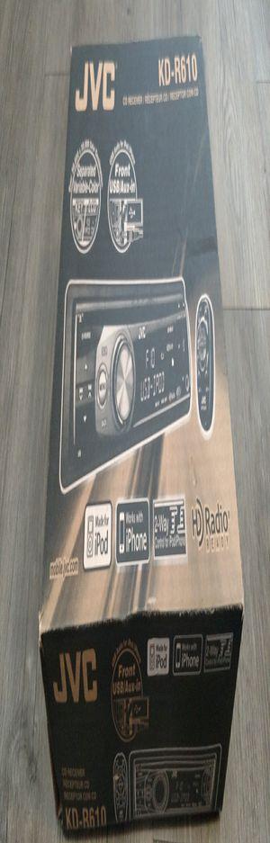JVC CD Receiver KD-R610, In Dash, 1 DIN, Black for Sale in Denver, CO