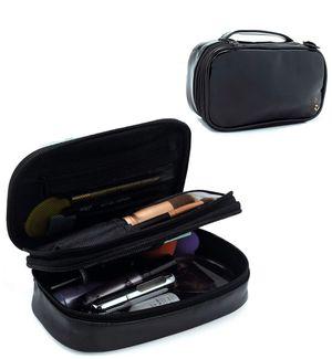 Relavel Small Makeup Bag, Relavel Travel Cosmetic Bag Makeup Brush Organizer Holder for Women Girls Black for Sale in Fresno, CA