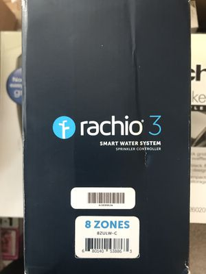 Rachio 3 Brand new in box, never installed Rachio 3 smart sprinkler controller. 8 zone WiFi connection to your smart home, Alexa, google, and other for Sale in Colorado Springs, CO