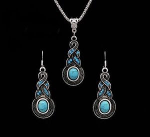 New retro vintageTurquoise Necklace Earrings set for Sale in Aldie, VA