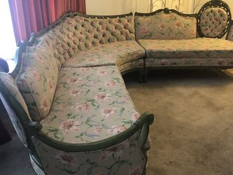 Up for sale is a beautiful antique sectional that can be separated into three compartments for easy transportation. for Sale in Hyattsville,  MD