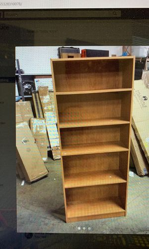 Mylex Five Shelf Bookcase; Three Adjustable Shelves; 11.63 x 29.63 x 71.5 Inches for Sale in Bedford Heights, OH