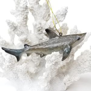 "CHRISTMAS IN JULY SPECIAL! Brand New! Pair (2) 4 2/4"" Shark Ornaments Coastal Nautical for Sale in Miami, FL"