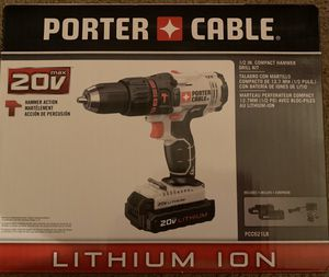 Compact hammer drill kit porter cable for Sale in Maidsville, WV