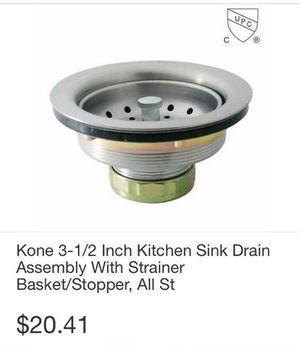 "Kone 3-1/2"" STD Kitchen Sink Drain Assembly w/strainer Base Stopper for Sale in Lynwood, CA"