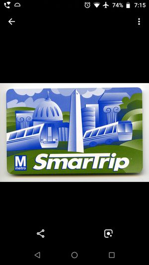 Metro Smartrip Card for Sale in Springfield, VA
